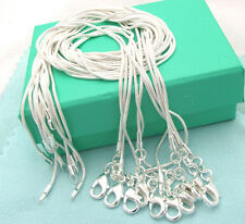 Wholesale Fashion 10PCS 925Sterling1 Silver 1MM Snake Chains&Necklace For Gift