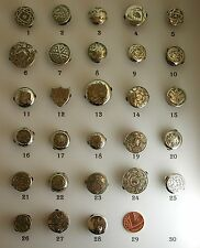 A Selection of Lovely Antique Victorian Silver Fronted Single Studs / Lapel Pins