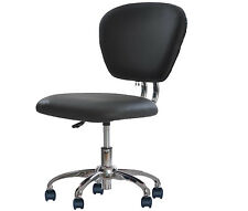 Black pink white pu leather mid back task chair office for Addin chaise recliner