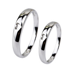 Wholesale 925 Sterling Silver Couple Ring Lover Engagement Wedding Rings ALL Sz