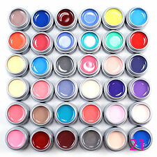 12x Pure/Solid Color UV Gel Nail Art Tips Design Builder Extension Manicure Kits