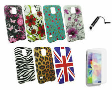 Clip On Hard Back Case Cover for Samsung Galaxy Phone Models & Black Stylus