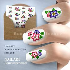 Beautiful Flowers Nail Art Nail Decals Water Transfer Stickers Decoration-123