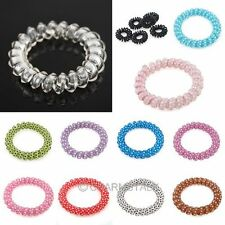 10Pcs Elastic Phone Wire Hair Tie Band Rope Hair Accessories For Lady Girls