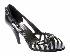 WOMENS BLACK PARTY WEDDING PROM EVENING BRIDAL SANDALS SHOES LADIES UK SIZE 3-8