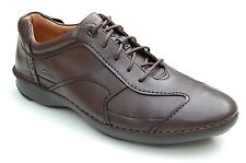 Clarks Mens Casual Active Air Shoes Rush Time / Zone Brown Leather