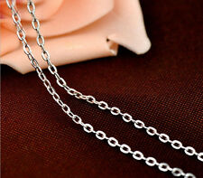 NEW Pure Solid 925 Sterling Silver Italy Round Rolo Chain Necklace