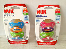 New NUK Orthodontic Pacifiers Latex Nipple 18-36 Months Teen/Young Adult