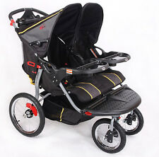 MAMAKIDDIES DOUBLE TWIN DUO BABY STROLLER JOGGER PRAM PUSH CHAIR BUGGY: PICKUP