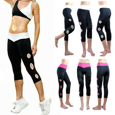 New Women's Gym Summer Fitness Yoga Sports Thin Cropped Leggings Footless Pants
