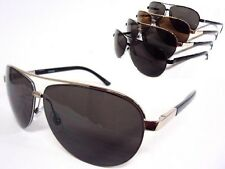 Large Aviator Sunglasses Gold Silver Gunmetal or Black Frame Dark Lenses