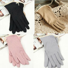5Colors Women Summer Dot Print Design Short Gloves Driving Sunscreen Gloves