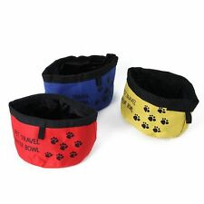 Portable Foldable Collapsible Pet Cat Dog Camping Travel Bowl Food Water Feeder