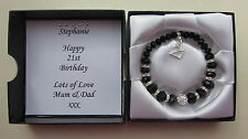Personalised 16th 18th 21st 30th 40th 50th 60th Birthday Bracelet Gift Boxed