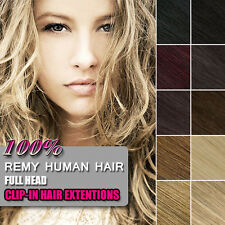 Full Head Clip in 100% Remy Human Hair Extensions US Delivery