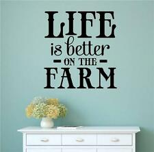 Life Is Better On The Farm Vinyl Decal Wall Stickers Words Letters Home Decor
