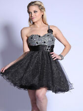 Sexy Sequined Top Short Prom Sweet 16 Graduation Dress Formal Gown Ruffled Skirt