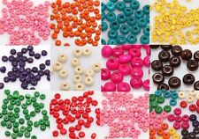 1000pcs Colorful Wood Spacer Beads Seed Beads Jewelry Finding Wholesale 4x3mm