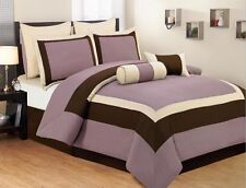 12pc Bed-in-a-Bag Verona Plum-Includes 600TC Sheet Set! (NEW)