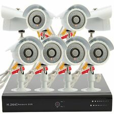 8 CH CCTV Security DVR 4Out/ 4In Night Vision Dome Camera System + 500GB/1TB HDD