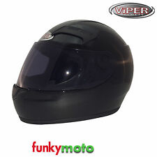3GO VIPER 35 HELMET BLACK FULLFACE MOTORBIKE SCOOTER CHEAP VISOR PACK AVAIL BIKE