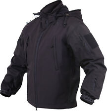 Black Concealed Carry Tactical Soft Shell Military Jacket