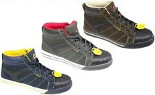 NEW MENS STEEL TOE CAP SUEDE LEATHER LIGHTWEIGHT WORK SAFETY SPORTS BOOTS