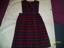 Girls' Red/Navy Plaid School Uniform All seasons French Toast sleeveless jumpers