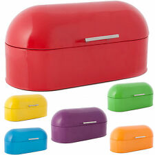 COOK INCOLOUR LARGE RETRO DOME STEEL ROLL TOP BREAD BIN KITCHEN FOOD STORAGE NEW