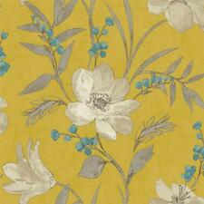 GRANDECO ROYAL HOUSE LUXURY ELISE FLORAL 10M WALLPAPER ROLL BLOSSOM FLOWERS Y/G