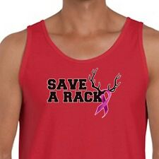 SAVE A RACK Breast Cancer Awareness Tee Funny Redneck Humor Men's Tank Top