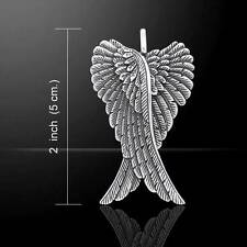 Stunning Angel Wings Sterling Silver Pendant - crafted in .925 sterling