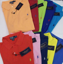 NWT POLO RALPH LAUREN MESH SHIRT W/ PONY LOGO $89 BIG & TALL CORAL PINK BLUE RED