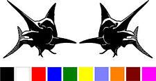 2 MARLIN fish fishing car truck boat RIGHT & LEFT vinyl decals stickers V-266