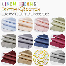 ALL SIZE 1000TC EGYPTIAN COTTON SHEET SETS/SINGLE/KING SINGLE/DOUBLE/QUEEN/KING