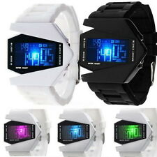 Hot Digital Light Sports Quartz Silicone Fashion LED Wrist Watch Men Boy's Watch