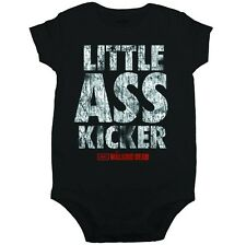 THE WALKING DEAD LITTLE ASS KICKER JUNIOR JR BABY INFANT ONESIE ROMPER BODYSUIT