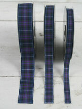 Pride of Scotland Tartan Ribbon Modern Design - 10mm  16mm  25mm widths