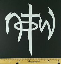 Not Of This World  (NOTW) Religious Vinyl Decal/Sticker. 12 Colors.