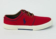Polo Ralph Lauren Men Faxon Low Brushed Cotton Suede Red