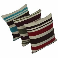 Red Turquoise Green Striped Chenille Decorative Pillow Case Cushion Cover 17""