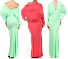 PLUS REGULAR MULTI WAY REVERSIBLE PLUNGING CONVERTIBLE MAXI DRESS OFF SHOULDER