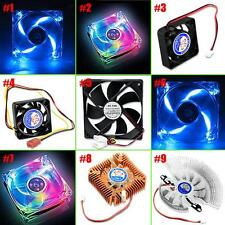 PC Computer CPU LED Cooling Fan Case Cooler Quiet Internal Heatsink 2/3/4 Pins