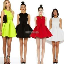 2014 HOT SALE Women Slim Bubble Ruffle Frill Flared Ball Gown Skater Dress EP98