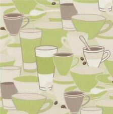 NEW LUXURY P&S HOME SWEET HOME COFFEE CUPS SAUCERS TEA CAFE KITCHEN WALLPAPER