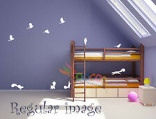 Wall Decor Decal Sticker Mural vinyl large one set of birds and squirrels dcb001