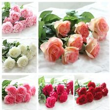 Wedding And Home Design Bouquet Decor 20 Head Real Latex Touch Rose Flowers
