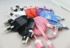 Pack of 5 iPhone 6 5S 5 iPod IOS8 8.1.1 Flat Wire Charge Data Sync Cable 8 Pin