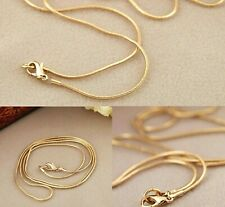 "Gold Filled 18"" to 30"" Long Solid Mens Snake Chain 1mm Wide Womens Necklace New"