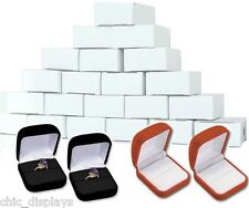 LOT OF 48 Pcs LARGE RING BOXES RING DISPLAYS JEWELRY BOX WHOLESALE VELOUR BOX